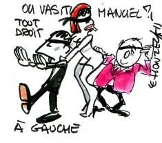 Maneul Valls Hollande Marianne René Le Honzec