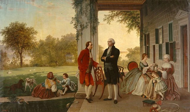 640px-Washington_and_Lafayette_at_Mount_Vernon,_1784_by_Rossiter_and_Mignot,_1859 The Metropolitan Museum of Art