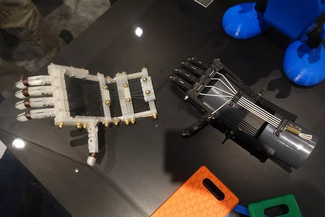 MakerBot printed robo-hands credits Nick Normal (CC BY-NC-ND 2.0)