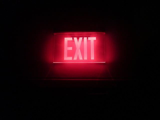 exit credits Paluska via Flickr ( (CC BY 2.0)