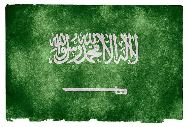 Saudi Arabia grunge flag credits Nicoals Raymond via Flickr ( (CC BY 2.0)