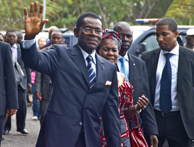 President Obiang Nguema Mbasogo and the First Lady at the new airport on Annobón credits Embassy of Equatorial Guinea  (CC BY-ND 2.0) via Flickr (  (CC BY-ND 2.0)