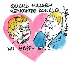 dessin politique125 - Hillary Clinton Donald Trump