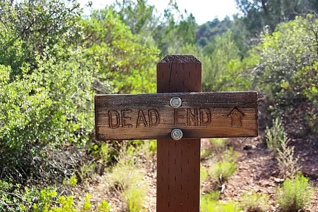 Dead end by Al_HikesAZ(CC BY-NC 2.0)