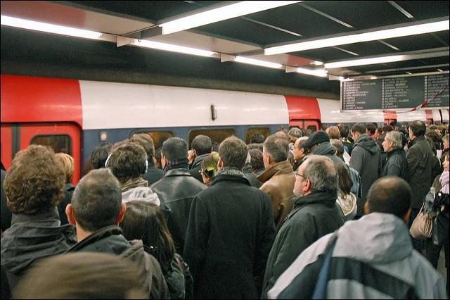 La grève sur le RER B crédits Jean-Pierre Dalbéra (CC BY 2.0)