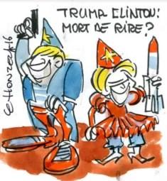 Trump Clinton René le Honzec