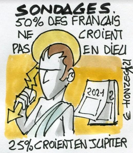 Sondages : moins de croyants en France, sauf pour Jupiter