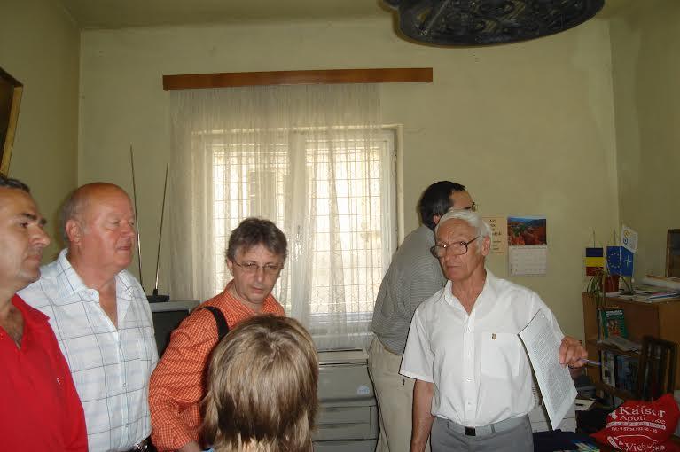 Octav Bjoza si Vladimir Tismaneanu, AFDPR, Brasov, iunie 2007