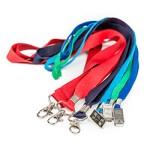 Estas são fitas de pescoço (Lanyards), ideais para o transporte do cartão de identificação em diversos tipos de situações, incluindo durante rondas.