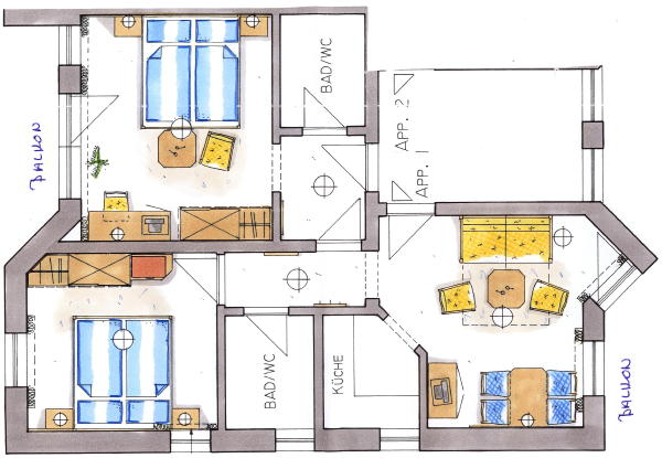 Map apartment 4