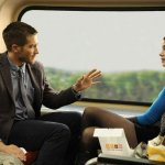 Jake Gillenhaal and Michelle Monaghan in Source Code