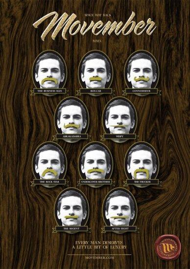 Movember Mustache styleguide