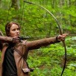 Jennifer Lawrence as Katnis in the Hunger Games