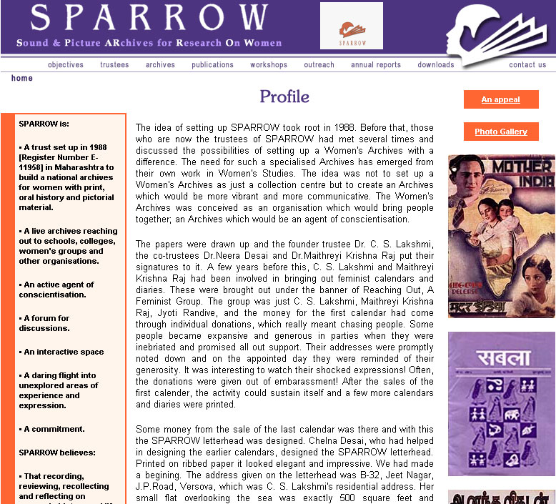 Sound & Picture Archives for Research On Women | SPAROW