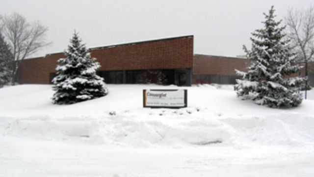Convergint Building covered in snow storm header image