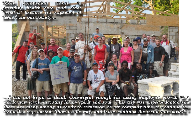 Haiti mission group team photo and life quote