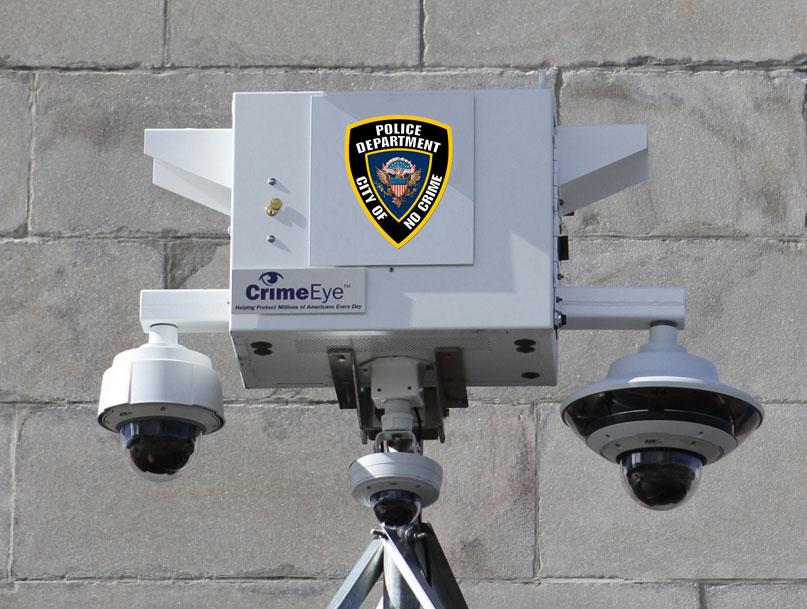 Police Department Brief Camera close up