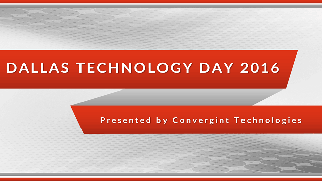Dallas Technology day 2016 header image