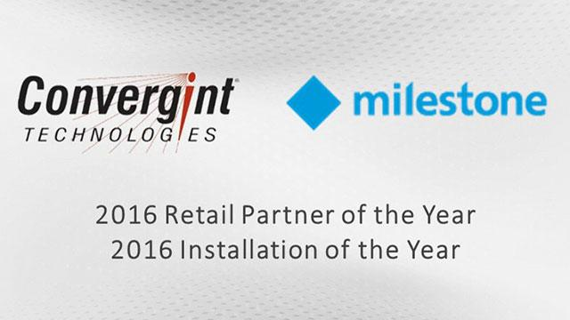 Convergint Technology Milestone 2016 Retail Partner and Installation of the year header image