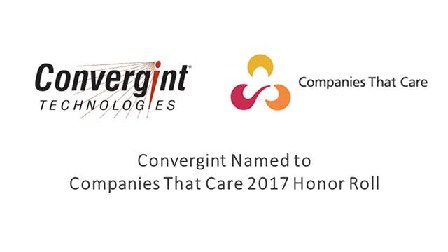 Convergint Technologies named Companies That Care 2017 header image