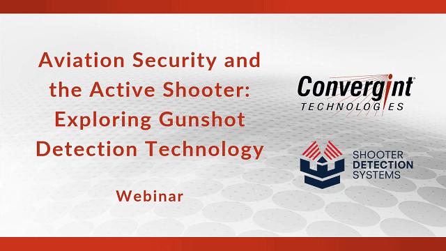 Webinar exploring gunshot detection technology header image