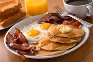 Typical Eggs and Bacon Breakfast Image