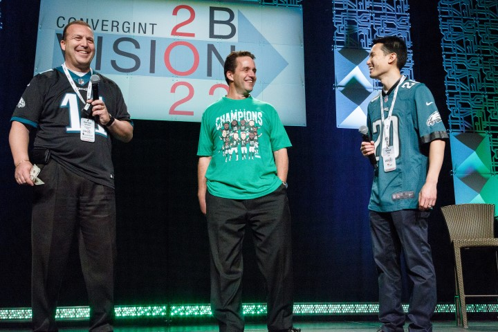 Convergint Nation Conference 2018 Three Colleagues Philadelphia Eagles