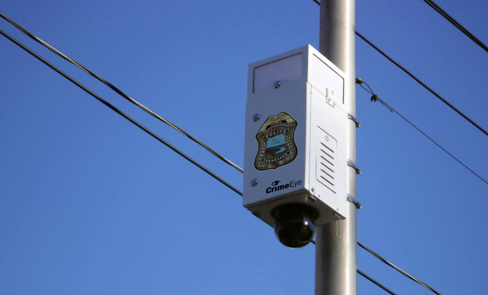 CrimeEye Public Safety Video System on a Pole