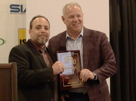 Accepting SD&I Fast50 Award Mike Mathes