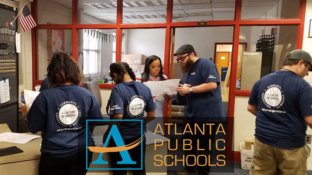 Convergint Colleagues working at Atlanta Public School