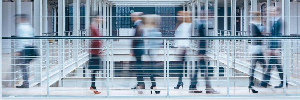 People walking in a building