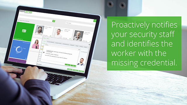 Software to proactively notify security staff