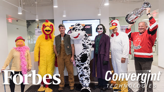 Convergint colleagues on Halloween