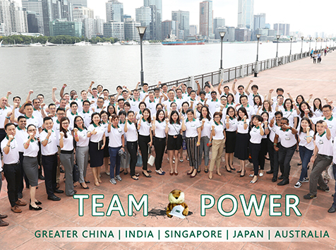 People in APAC taking a group picture