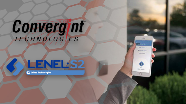 Person using LenelS2 mobile access control