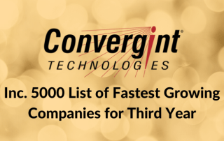Convergint Named to Inc. 5000 Lit of Fastest Growing Companies for Third Year