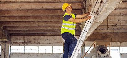 Man climbing a ladder