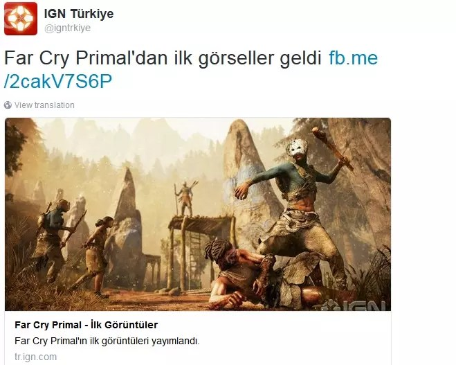 IGN Far Cry Primal