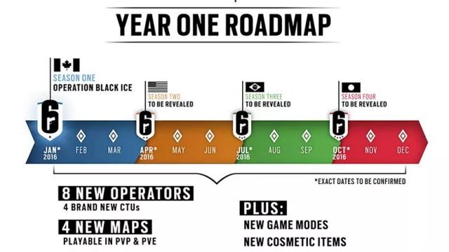Cronograma de DLCs de Rainbow Six Siege inclui até unidades brasileiras