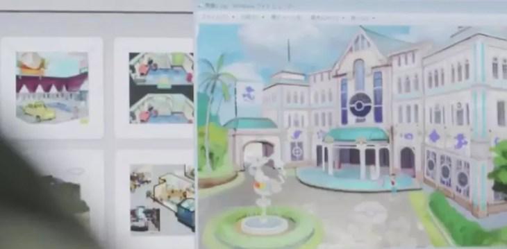 cenas de arte do pokemon sun e pokemon moon