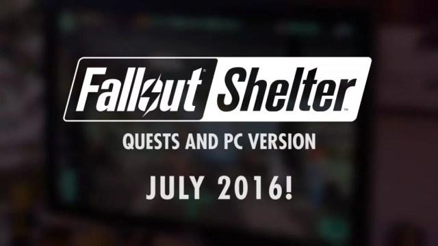 Fallout Shelter PC julho 2016