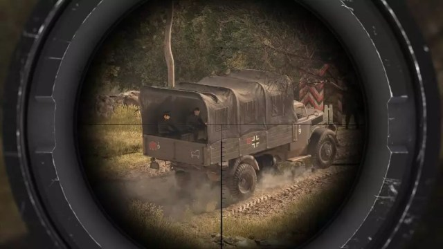 Sniper Elite 4 Mira no comboio