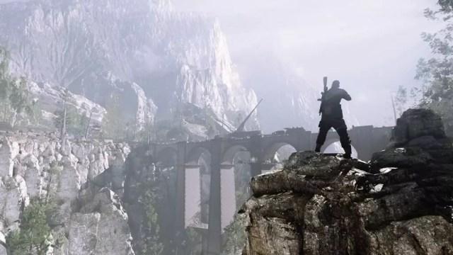 Sniper Elite 4 ataque na ponte