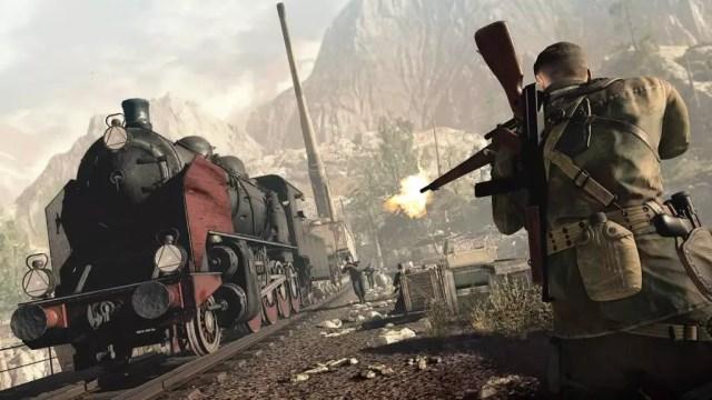 Sniper Elite 4 ataque no trem de ferro