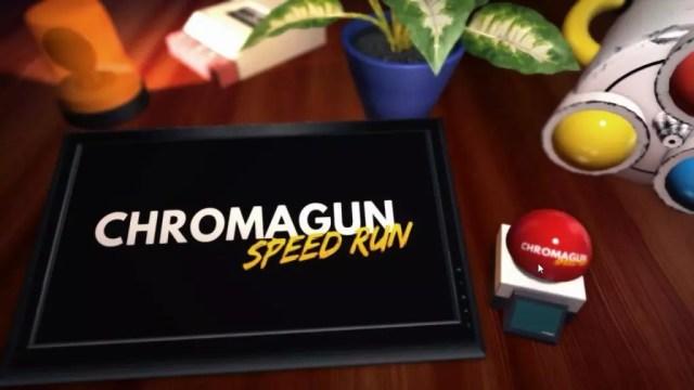 Tela de início do modo Speed Run de ChromaGun