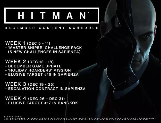 Todas as atualizações de Hitman em dezembro de 2016