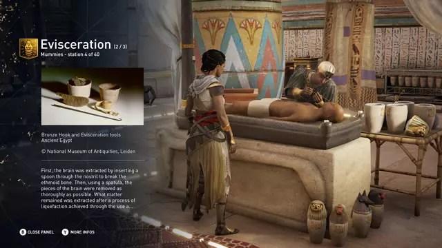 Imagem do modo de exploração da história do Egito Antigo