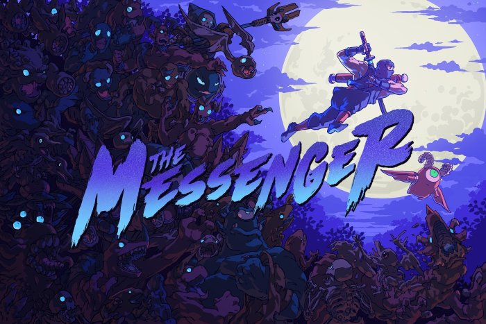 Arte promocional de The Messenger para o ps4