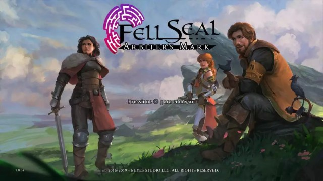 Trio de personagens de Fell Seal