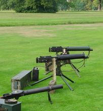 The machinery of war in Hylands Park...